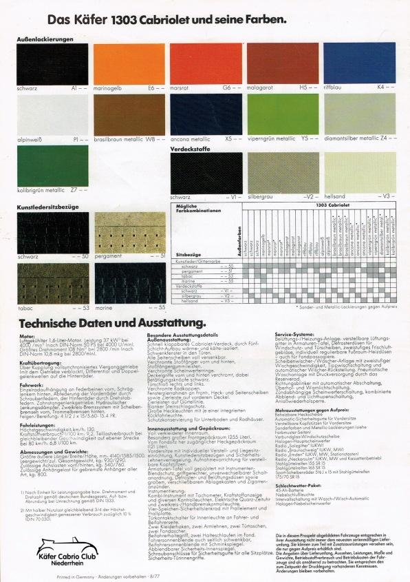 Prospekt Außen - Ausstattung & Farben 1977