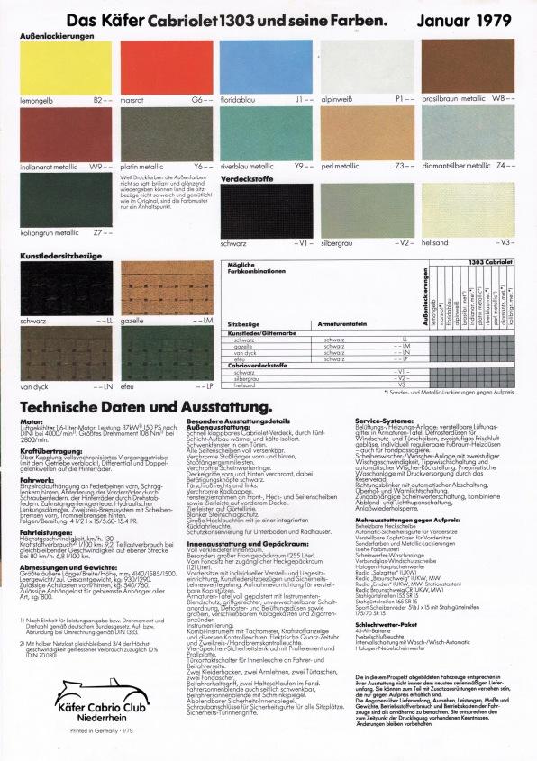 Prospekt Außen - Ausstattung & Farben 1979